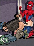 Spiderman's meaty dong