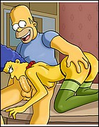 Horny Marge Sucking Cock