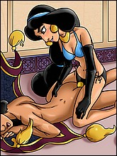 Hot Jasmine Fucks Aladdin With Strap-On