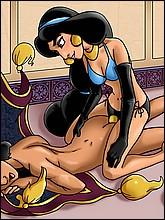 Hot Jasmine Fucks Aladdin With Strap-On