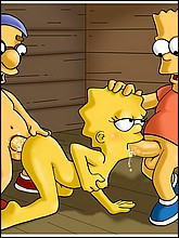 Bart and Millhouse Fucks Lisa In All Holes