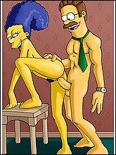 Naked Marge Getting Fucked By Ned Flanders