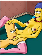 Bart Simpson Licks Marge's Pussy