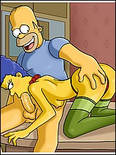 Naked Marge Sucks Homer's Big Cock