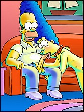 Naked Marge Simpson Sucks Homer's Cock