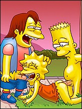Sexy Lisa Fucked by Bart and Nelson