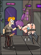 Fry and Leela In BDSM Game