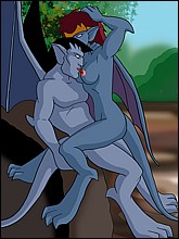 Blue-skinned sex addicts Gargoyles