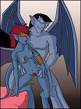 Horny Gargoyles Having Sex