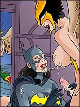 Sexy Batwoman Getting Facial