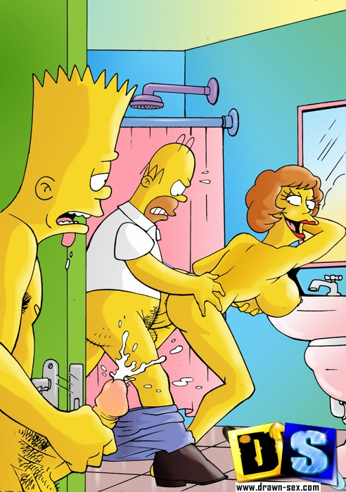 The bustiest and loosest whores from The Simpsons