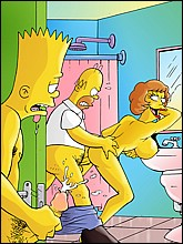 Homer Fucks Edna Krabappel in the bathroom