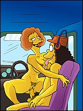 Naked Edna Krabappel Fucks with Otto Mann