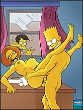 Horny Bart Fucks His Teacher in the classroom