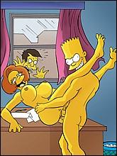 Horny Bart Fucks His Teacher in the classroom