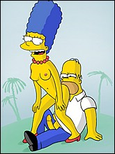 Homer kisses Sexy nude Marge's ass