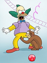 Krusty the Clown gets Cock Sucking