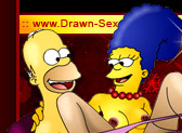 Homer and naked Marge