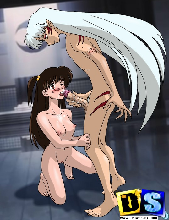 kagome and sango having sex together
