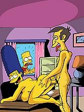 Skinner Fucks naked Marge