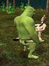 Shrek and Fiona having sex
