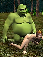 Hot Shrek 3D porn