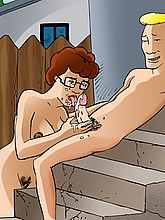 Peggy from King of the Hill sucking cock