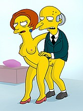 Mr. Burns fuck Mrs. Krabappel