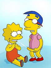 Lisa getting facial cum from Millhouse