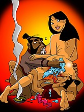 Sexy Mulan in sex orgy