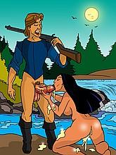 Pocahontas sucking cock
