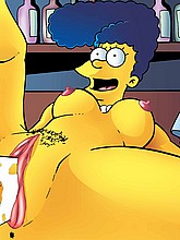 Naked Marge Simpson fucked