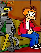 Fry and Bender Jercking-off