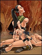 Cute Tomb Raider Riding Big Cock