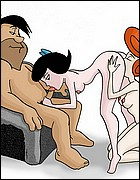 Naked Fred and Wilma Flintstones