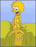 Horny Lisa Rides Bart's Cock