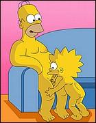 Lisa Sucking Homer's Dick